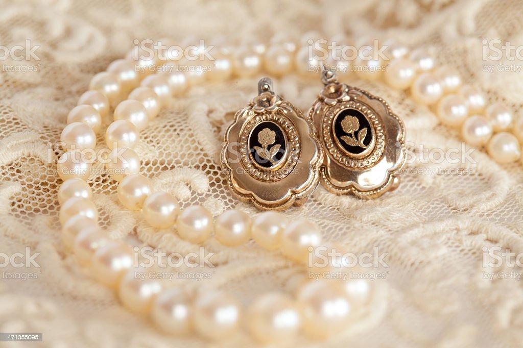 Vintage jewelry stock photo