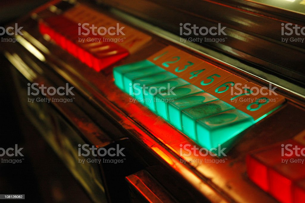 Vintage Jukebox Buttons royalty-free stock photo
