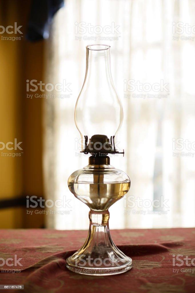 vintage kerosene lamp stock photo