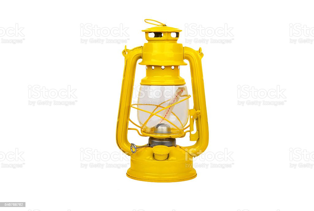 Vintage kerosene lantern stock photo