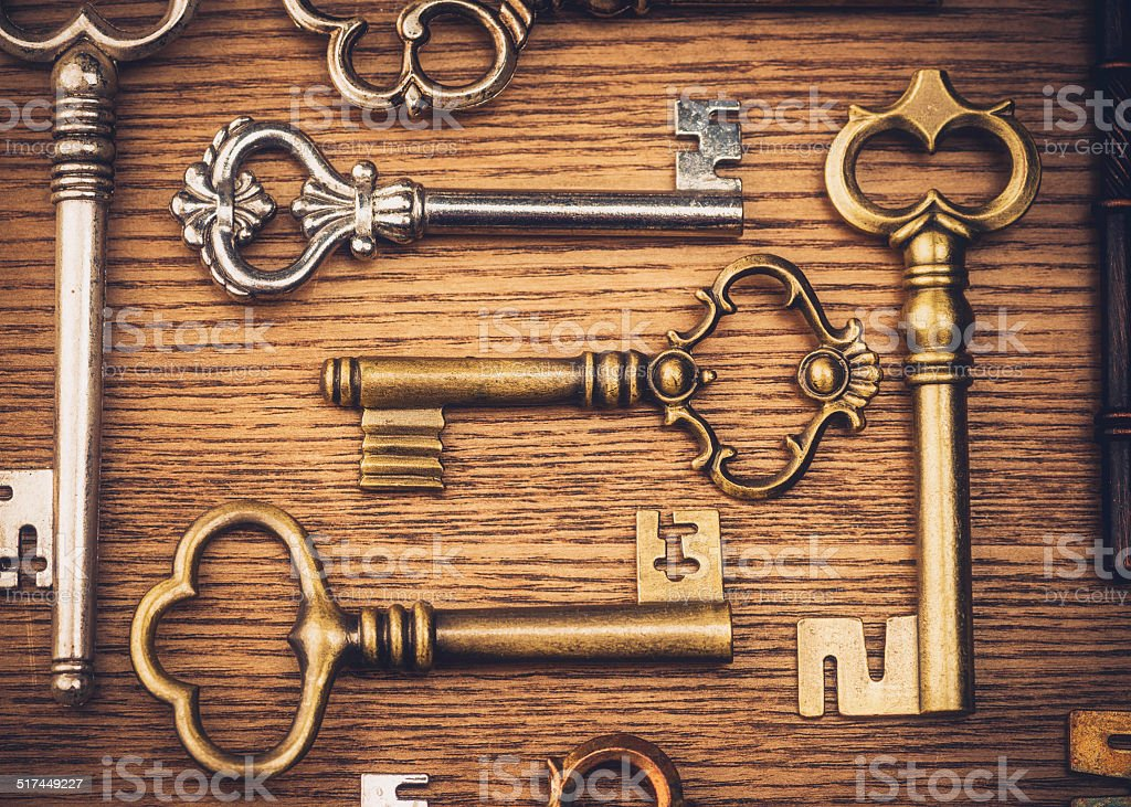 Vintage Key Collection stock photo