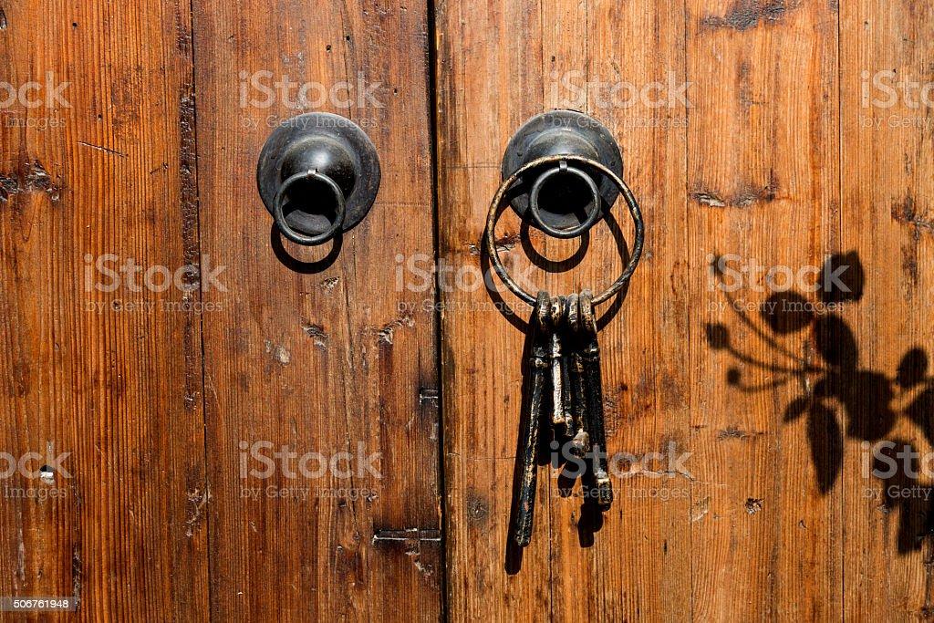 Vintage key stock photo
