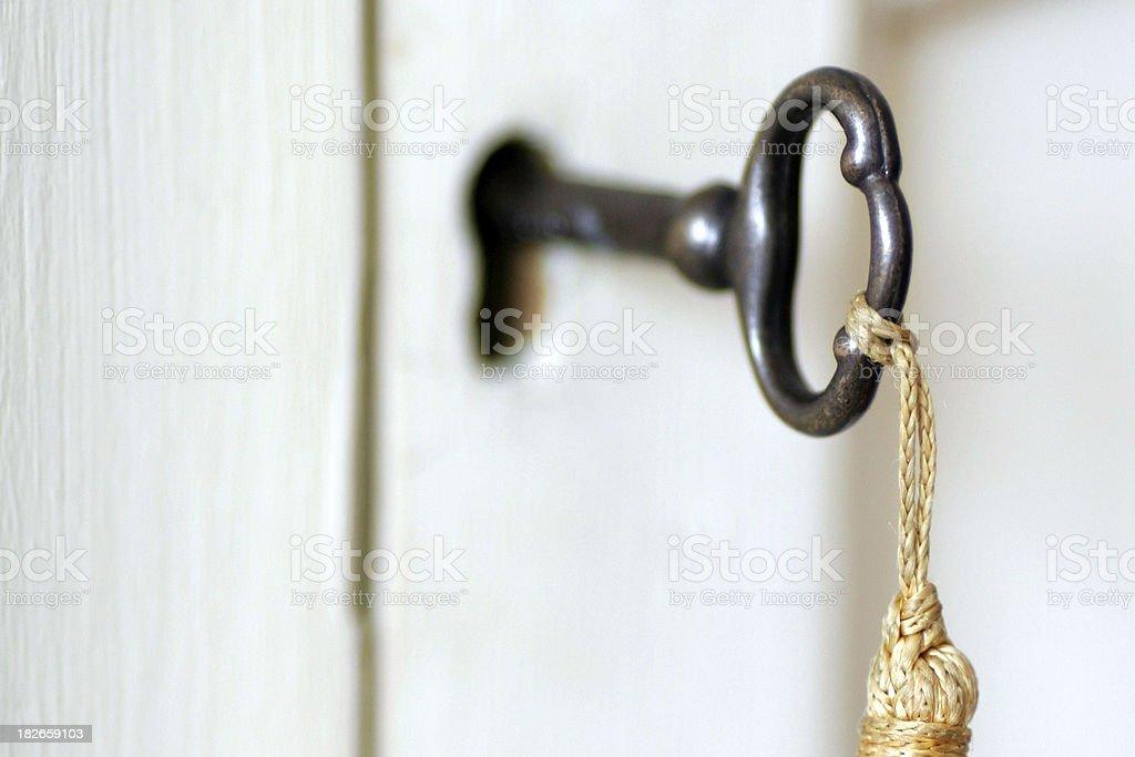 Vintage Key & Tassel stock photo
