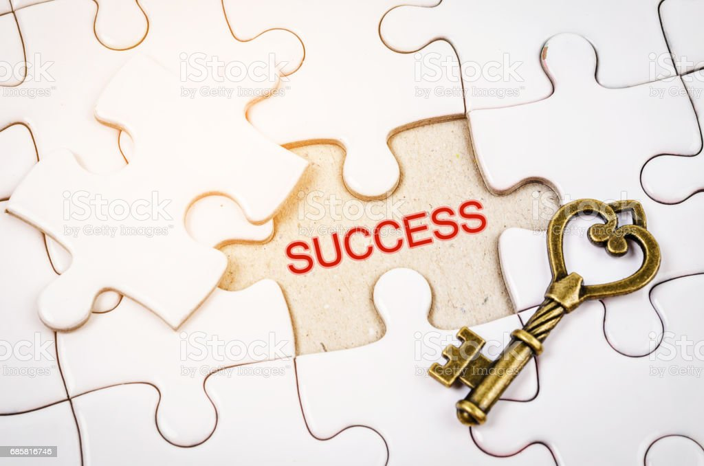 Vintage key with Success word stock photo