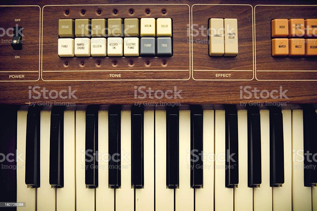Vintage Keyboard Organ stock photo