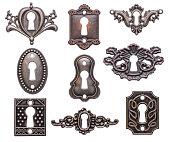 Vintage keyholes set