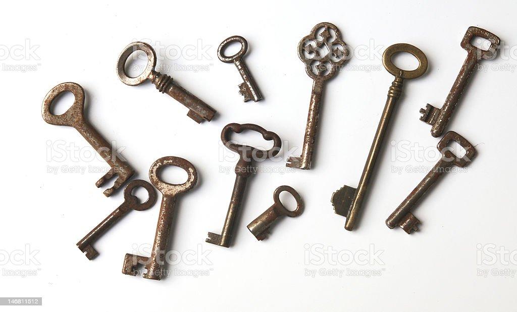 Vintage keys royalty-free stock photo