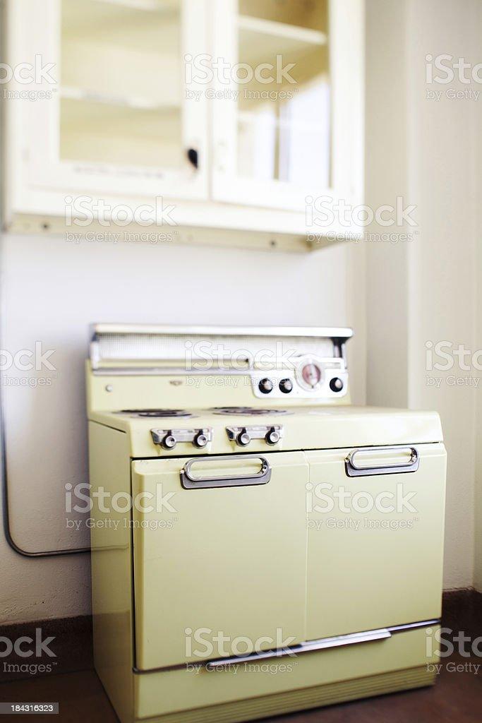 Vintage kitchen stove stock photo