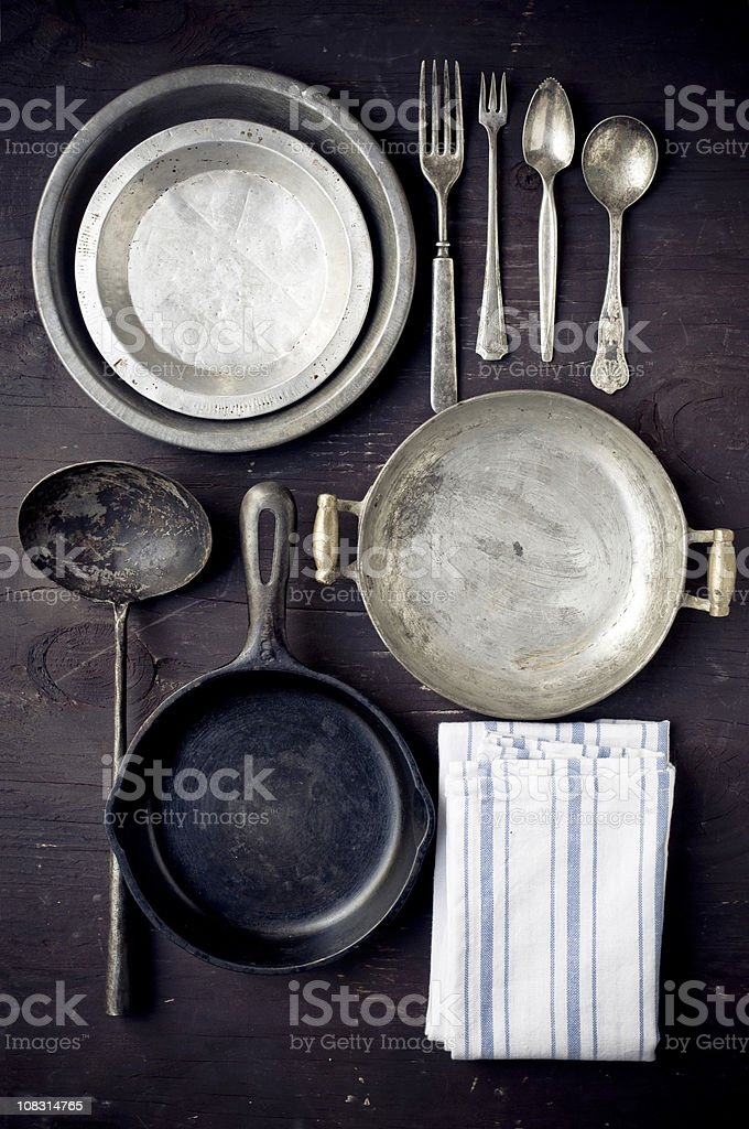 Vintage Kitchenwares royalty-free stock photo