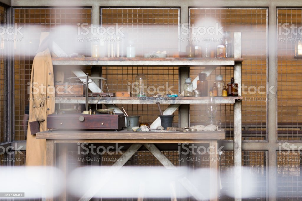 Vintage lab stock photo