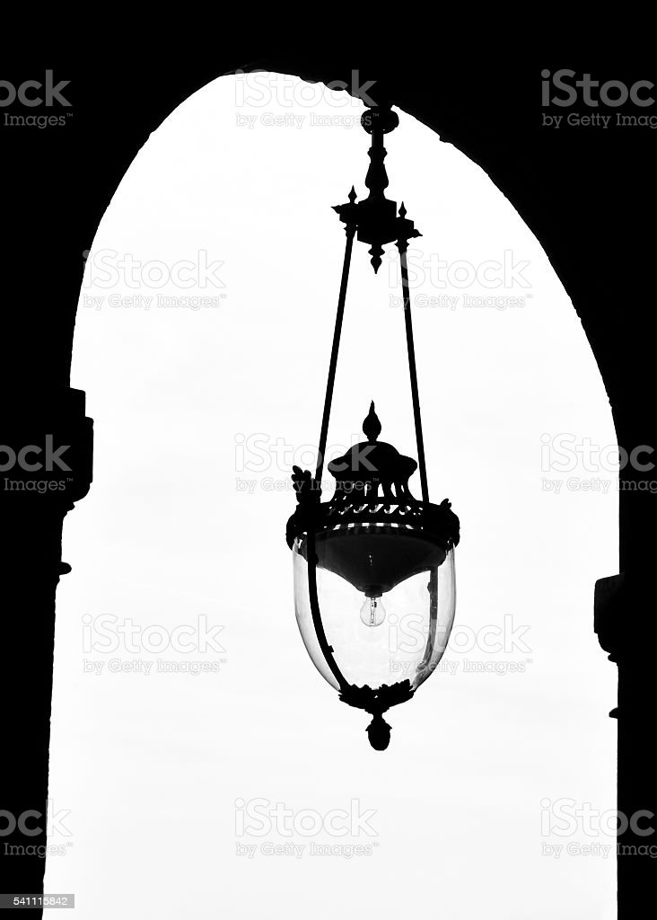 Vintage lamp at the Palais-Royal in Paris stock photo