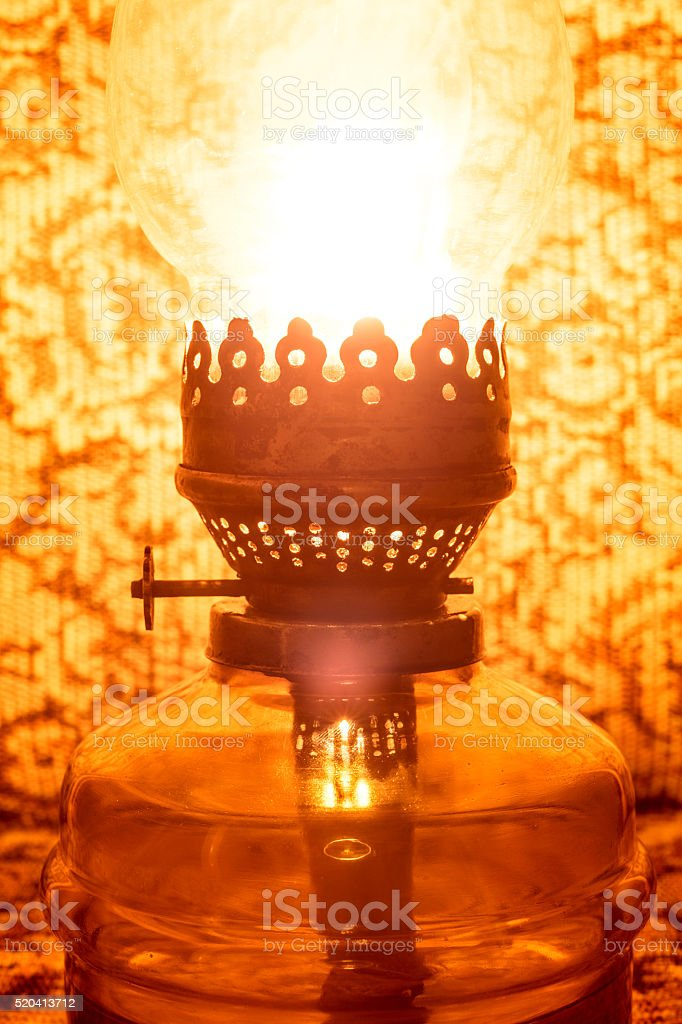 Vintage lamp stock photo