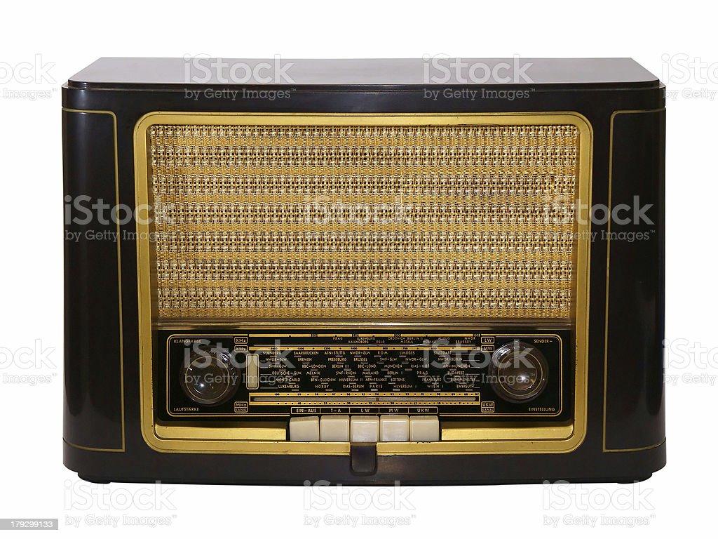 Vintage lamp radio stock photo