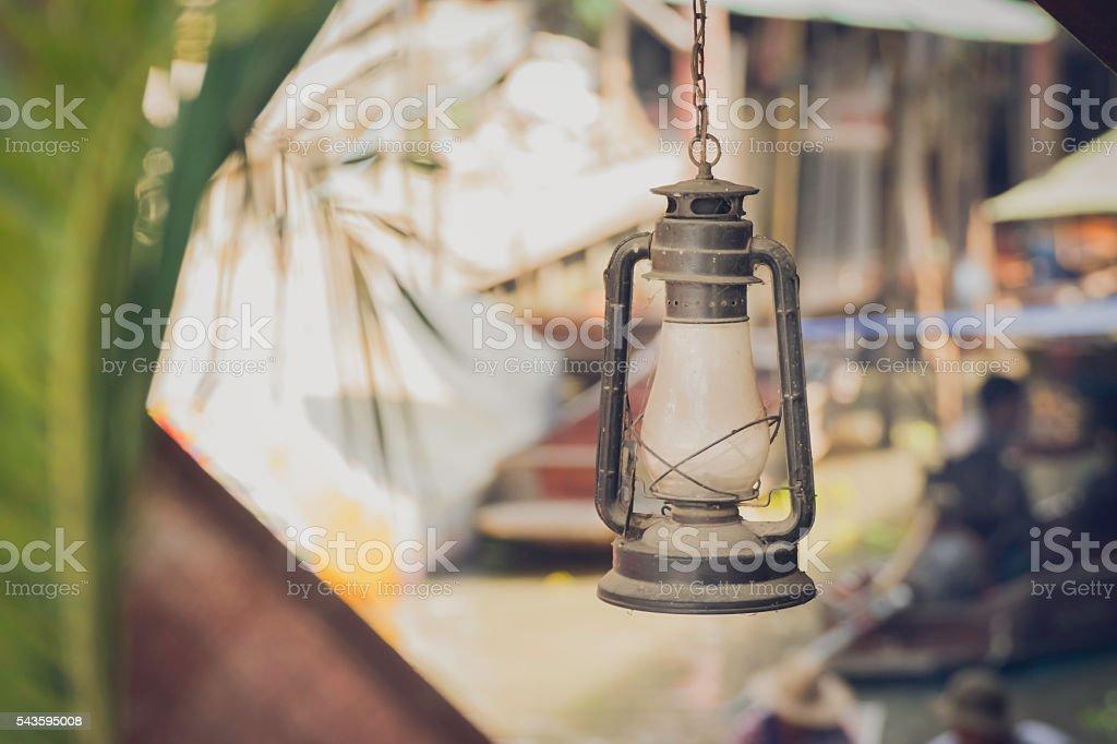 vintage lamps stock photo