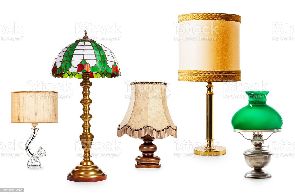 Vintage lamps stock photo