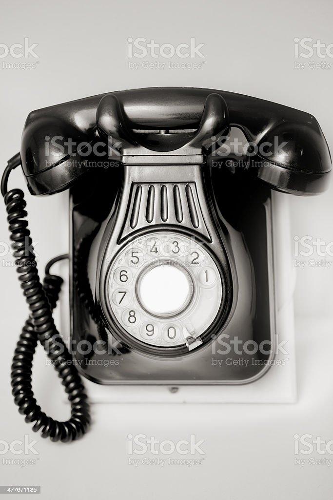 Vintage landline telephone stock photo