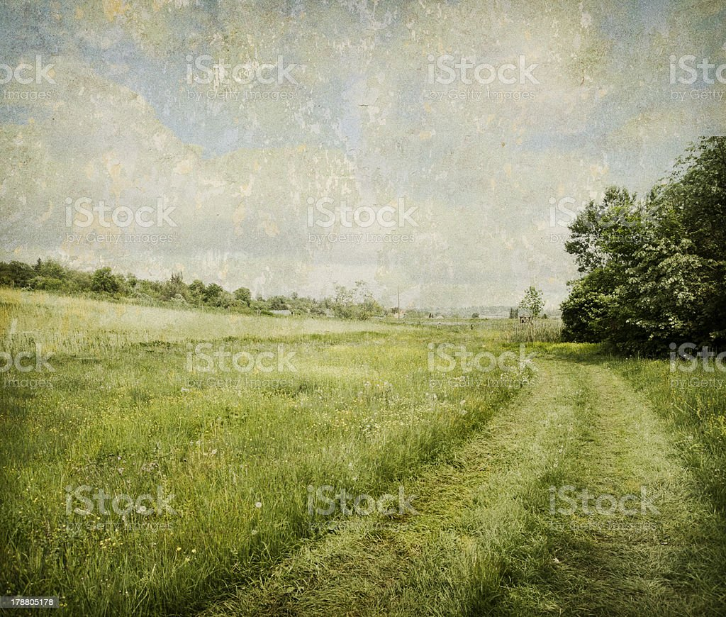 Vintage Landscape stock photo