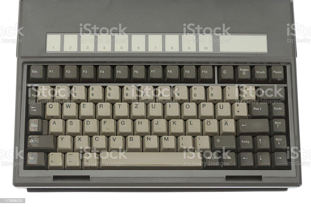 Vintage laptop keyboard stock photo