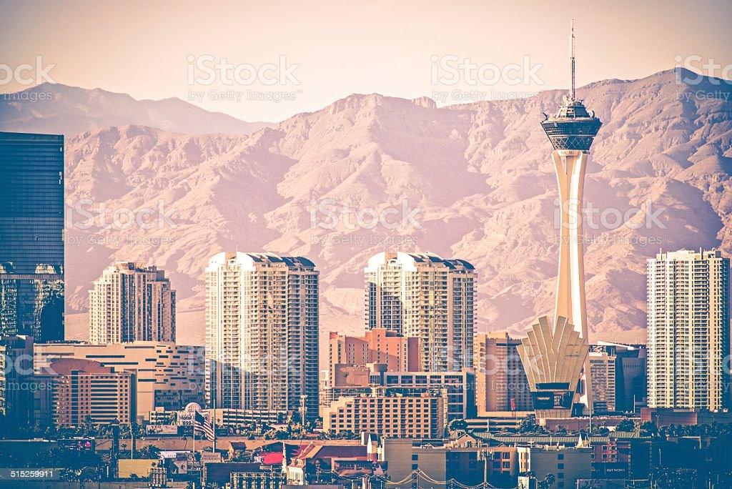 Vintage Las Vegas Skyline stock photo