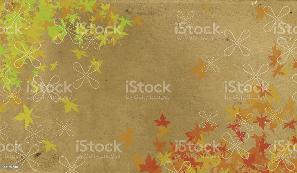 vintage leaf and paper background royalty-free stock photo