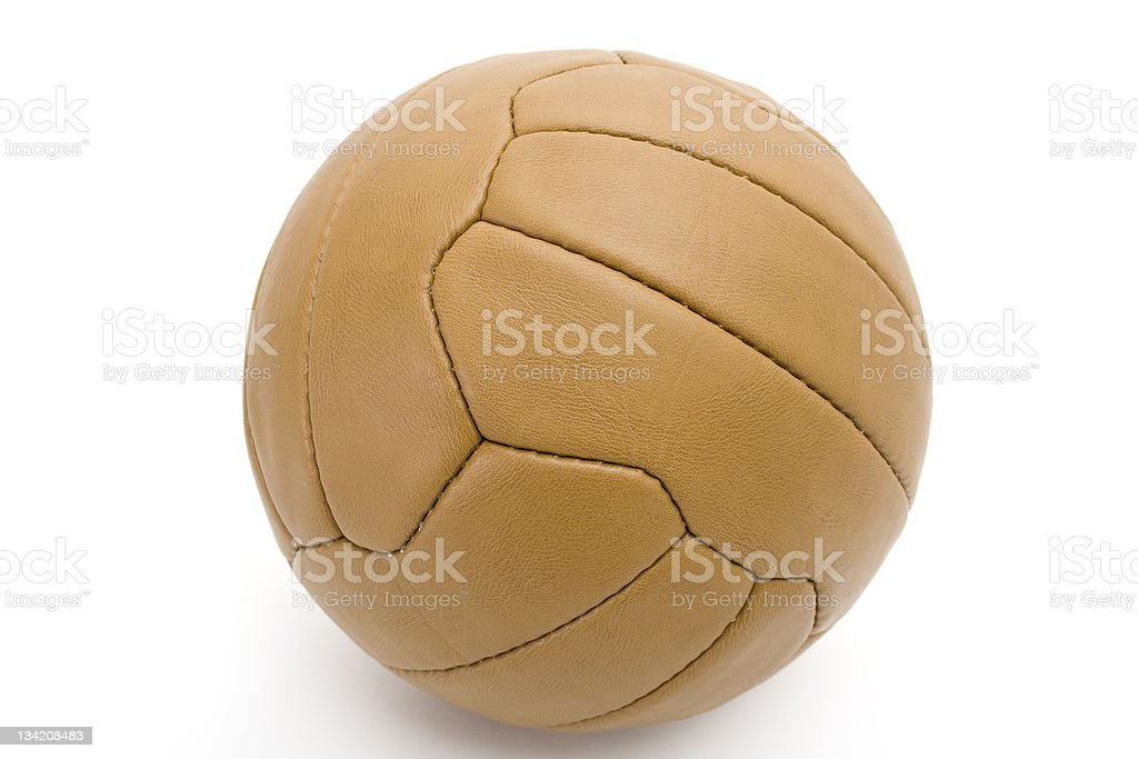 Vintage Leather Ball royalty-free stock photo