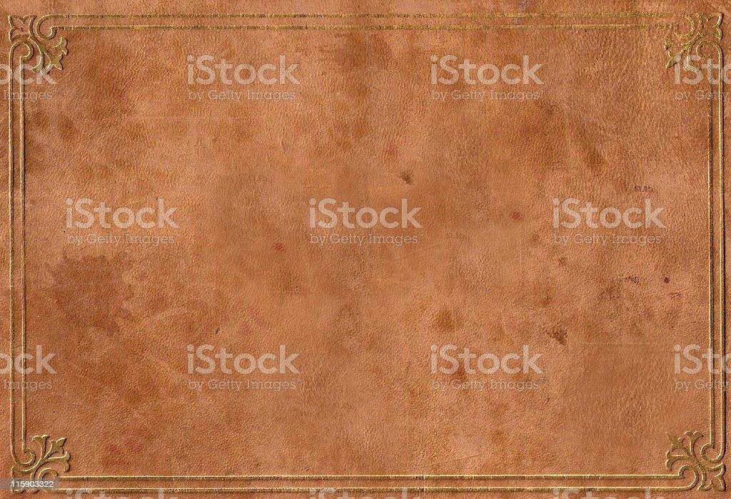 Vintage Leather Binder & Scrapbook Cover stock photo