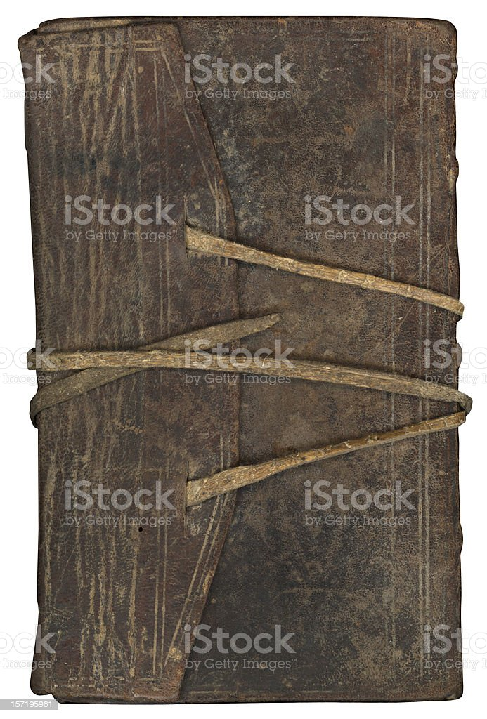 Vintage leather binding (XXL) royalty-free stock photo