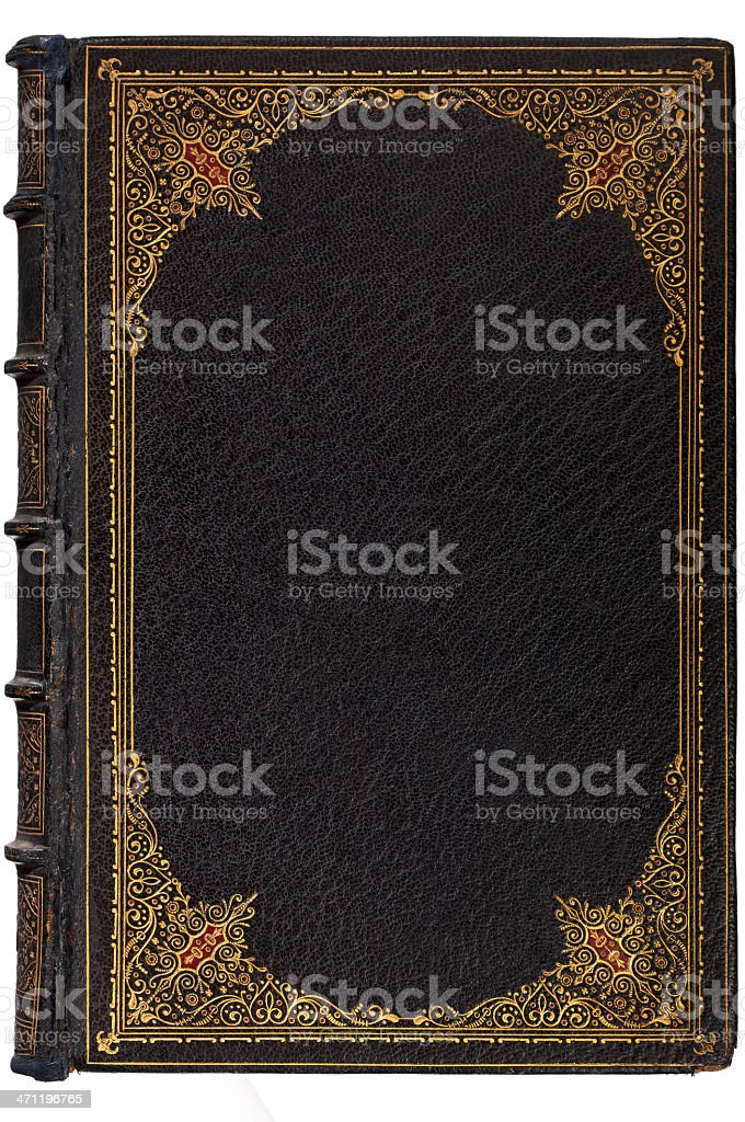 Vintage Leather Book Background stock photo