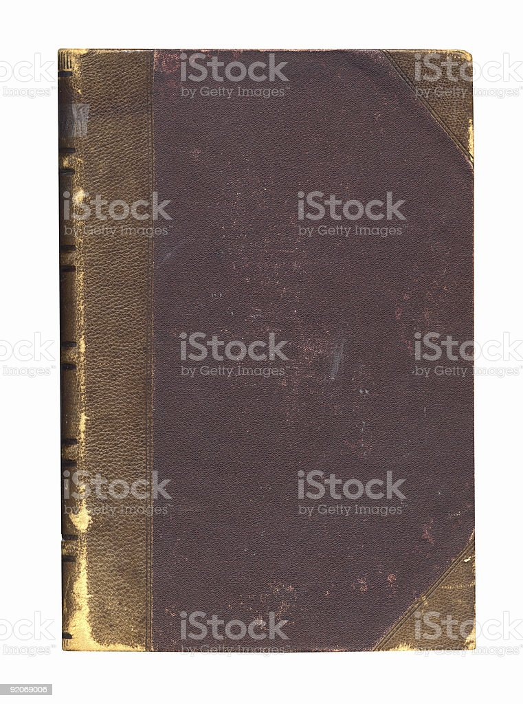 Vintage Leather Book Cover stock photo
