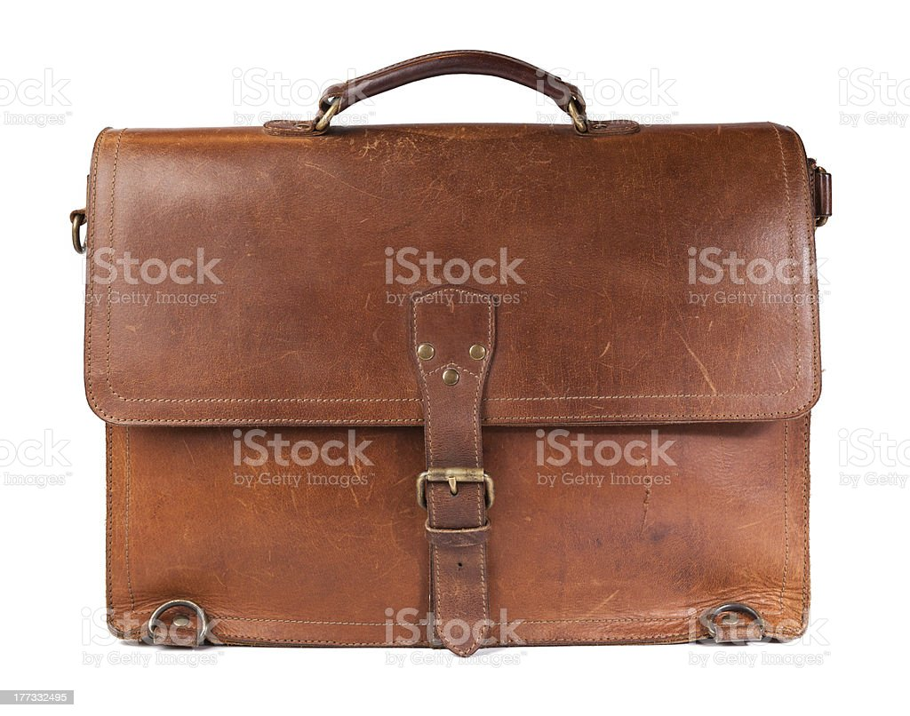 Vintage Leather Briefcase royalty-free stock photo