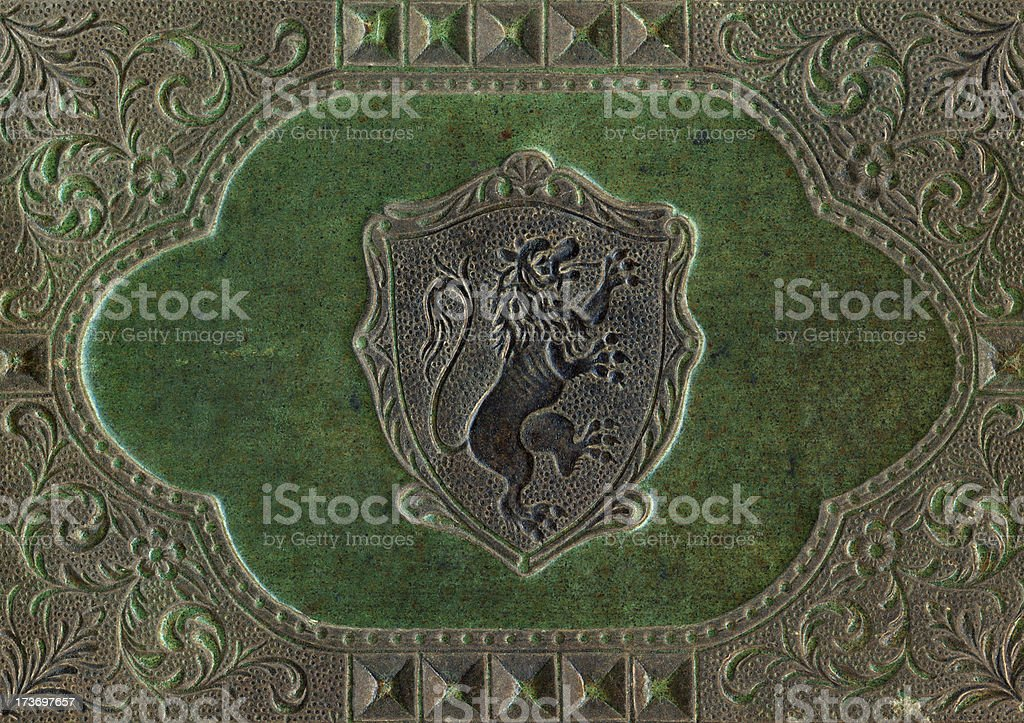Vintage leather cover royalty-free stock photo