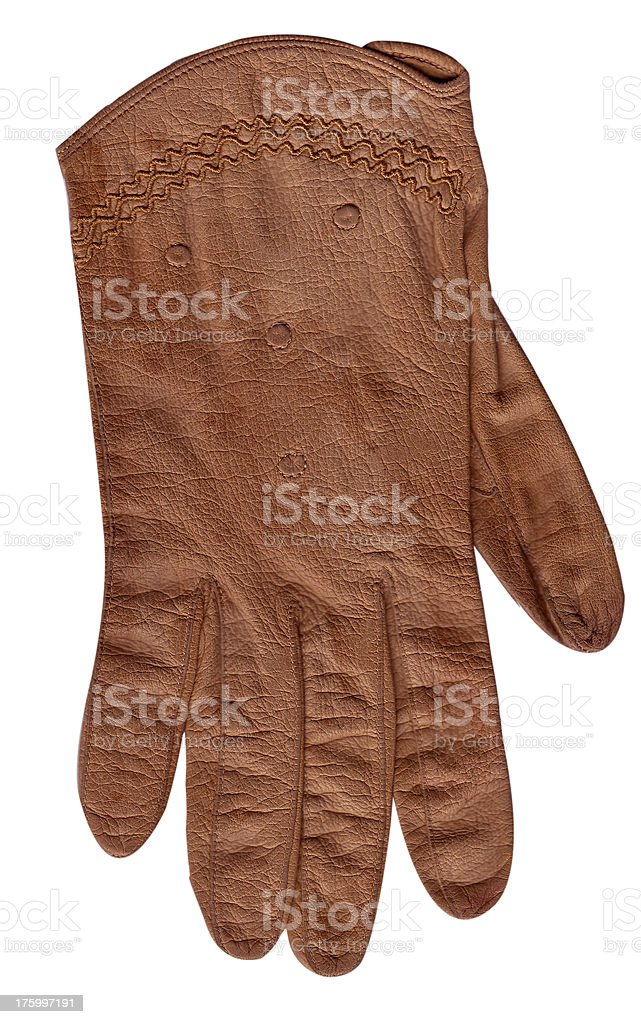 vintage leather glove royalty-free stock photo