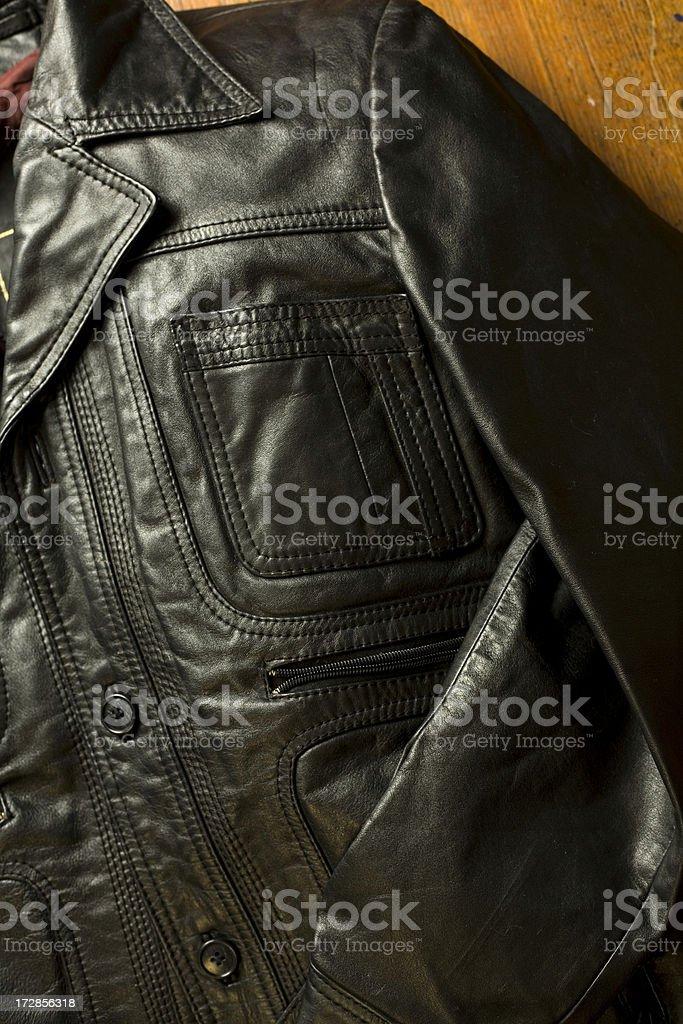 Vintage Leather Jacket stock photo