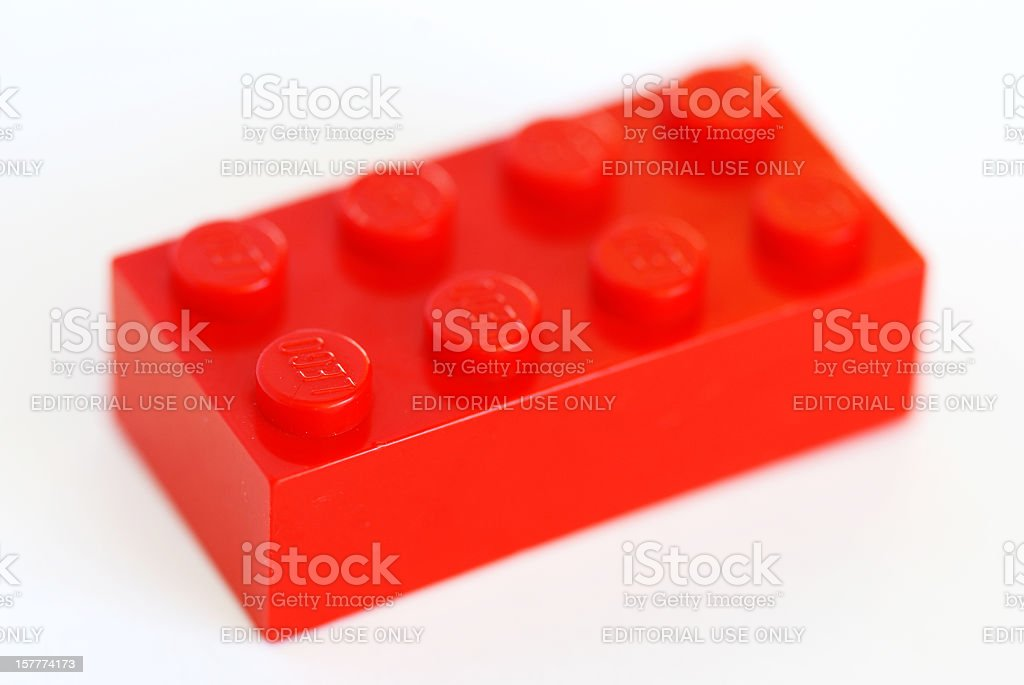 Vintage Lego brick from the 80s royalty-free stock photo