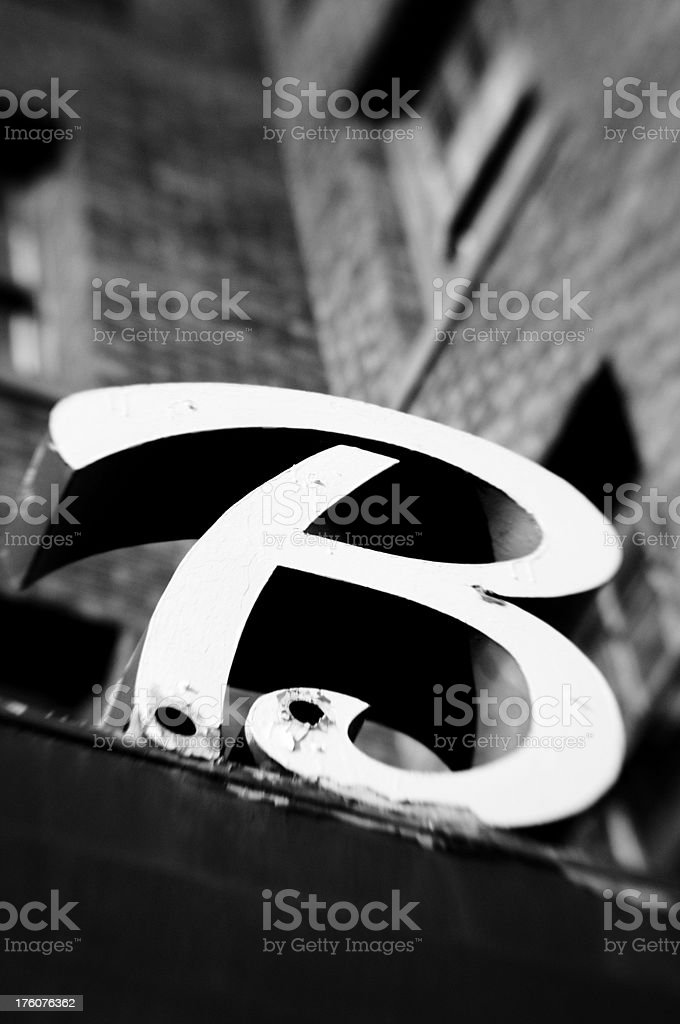 Vintage Letter B royalty-free stock photo