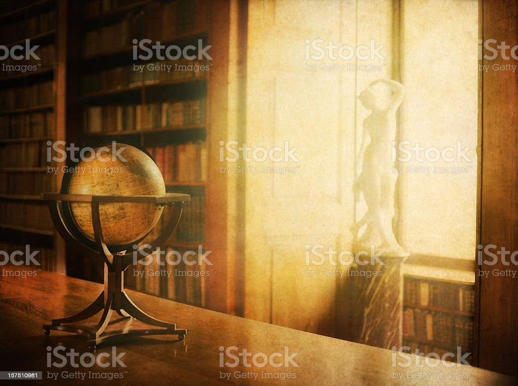 vintage library photo royalty-free stock photo