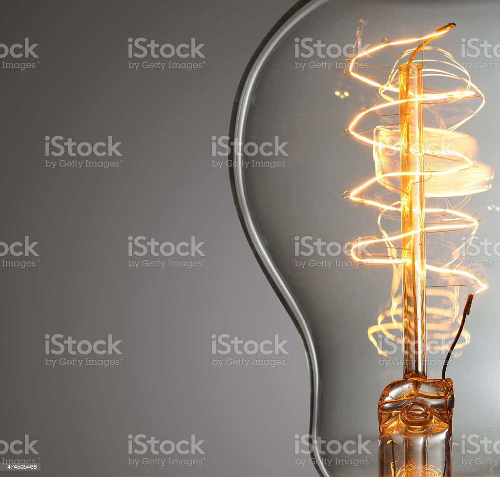 vintage light bulb stock photo