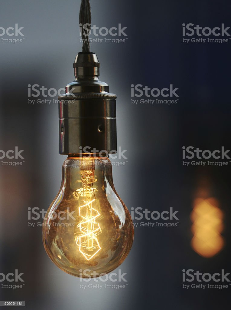 Vintage Lightbulb stock photo