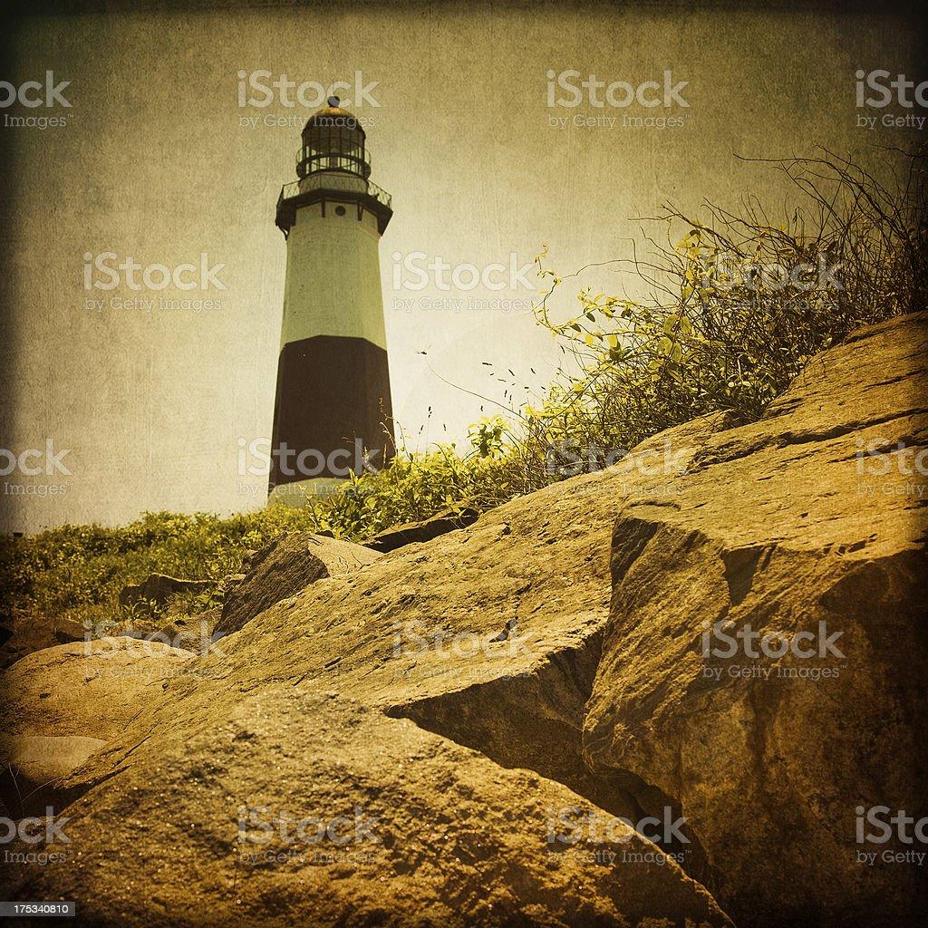 Vintage Lighthouse stock photo