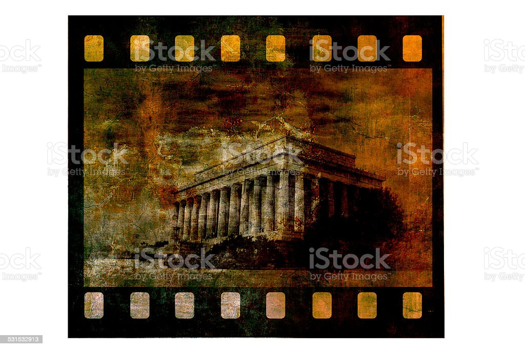 Vintage lincoln memorial stock photo