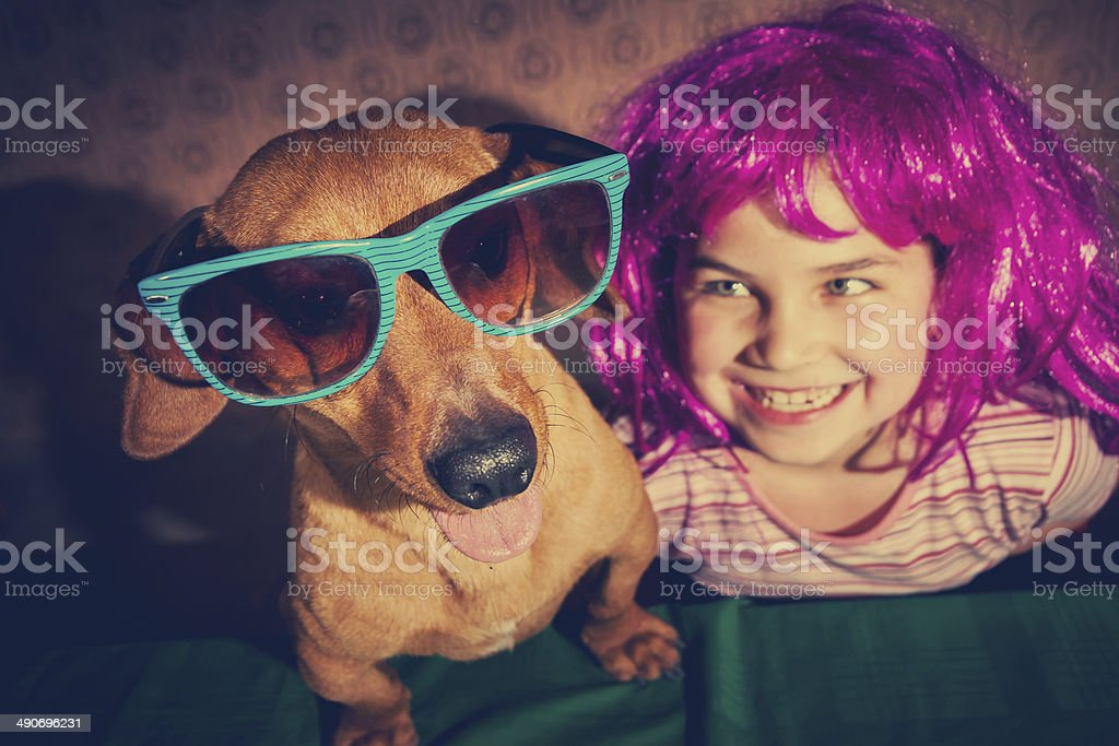 Vintage little girl stock photo