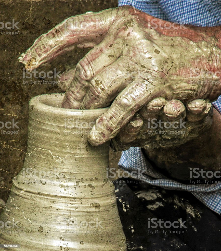 Vintage look at traditional work in ceramic stock photo