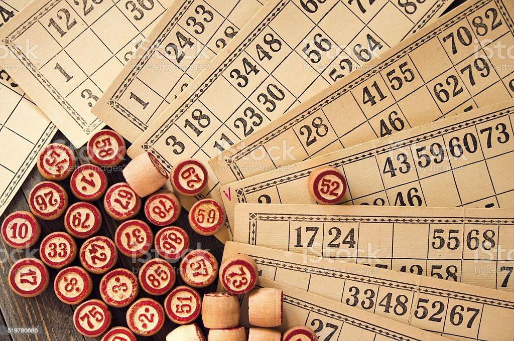 Vintage lotto stock photo