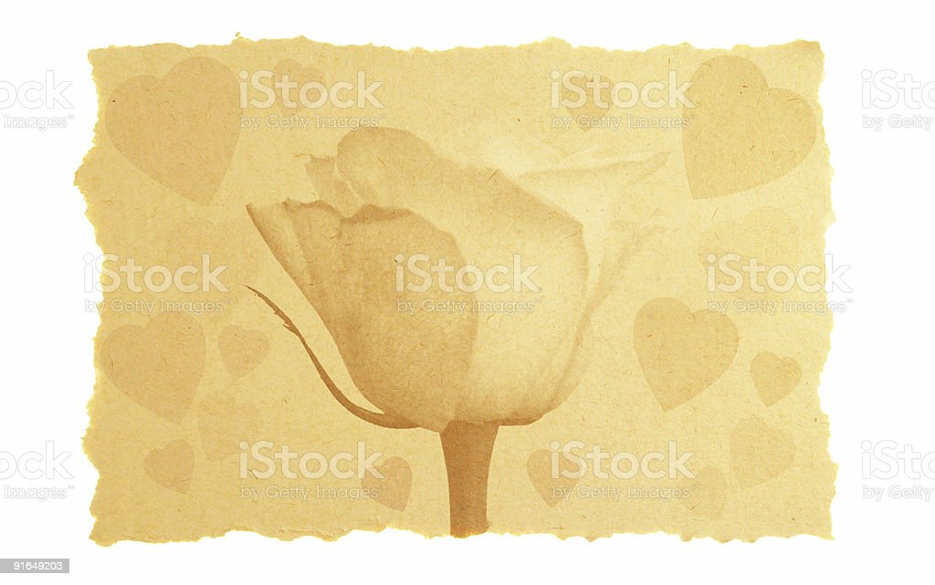 vintage love and Valentine card. royalty-free stock photo