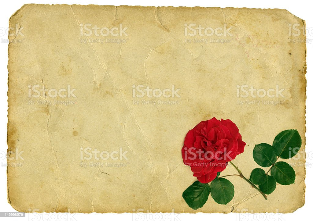 Vintage love letter royalty-free stock photo