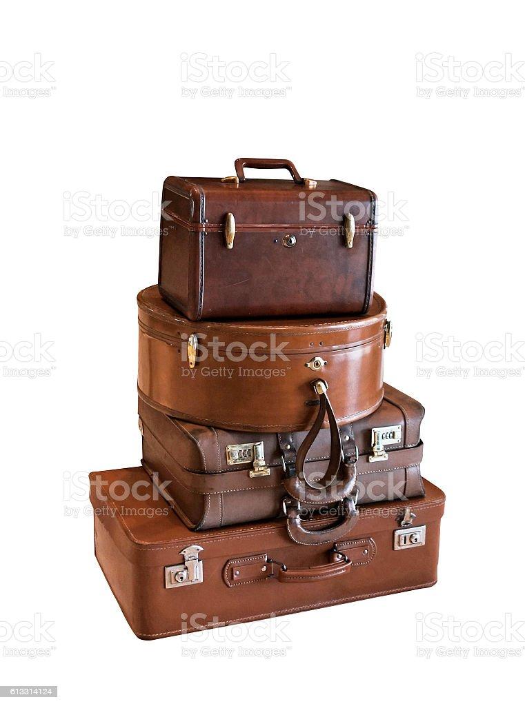 Vintage luggage stock photo