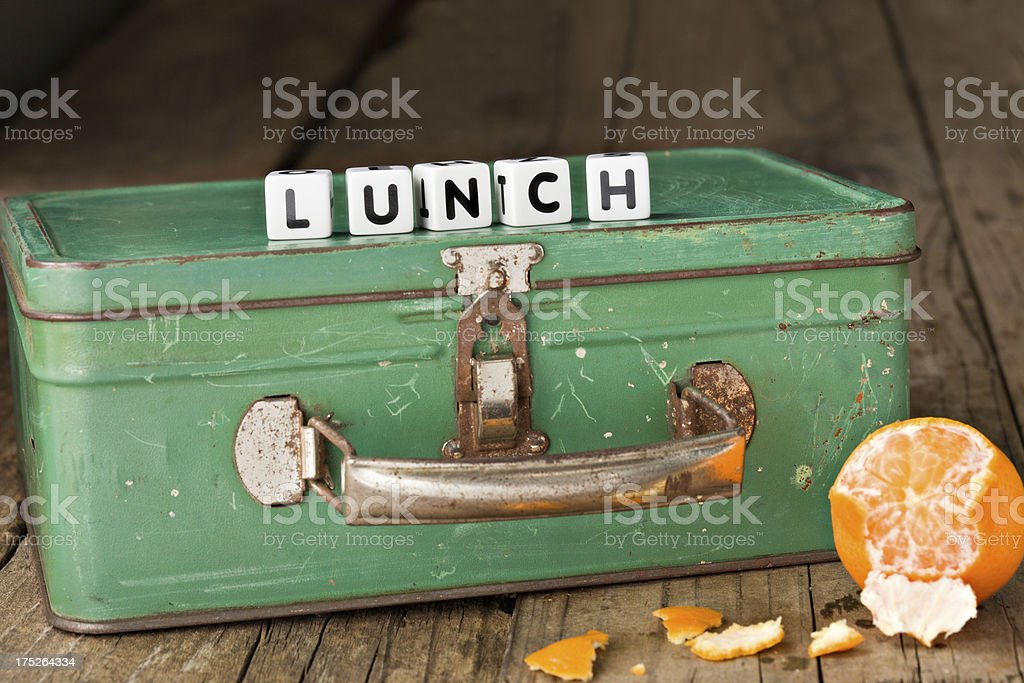 Vintage Lunch Box stock photo