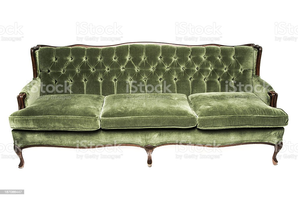 Vintage luxury Green sofa stock photo