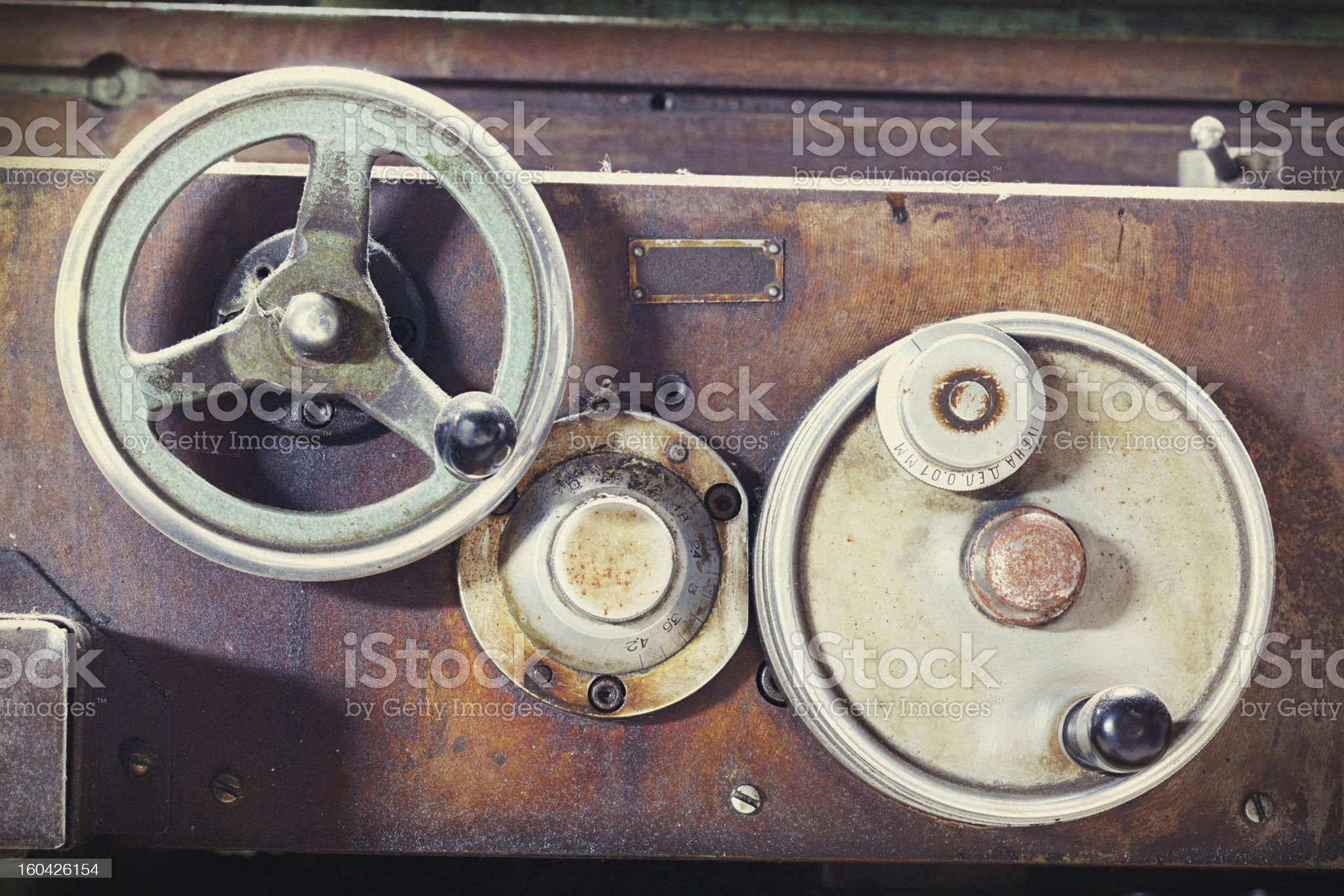 Vintage machine royalty-free stock photo