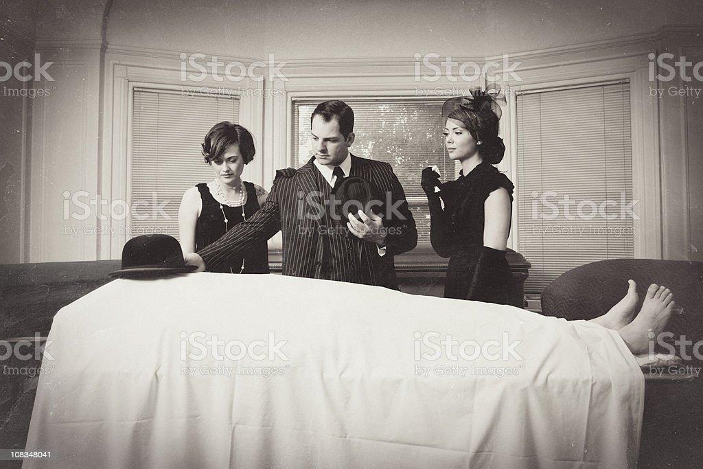 Vintage Mafia Funeral stock photo